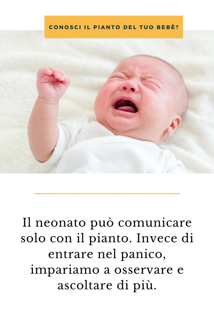 intrattenere i neonati - il pianto è comunicazione